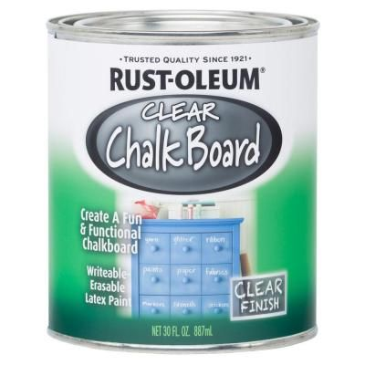 Rust Oleum Specialty 30 Oz Clear Chalkboard Paint Case Of 2 284469 The Home Depot Chalkboard Paint Colored Chalkboard Paint Black Chalkboard Paint