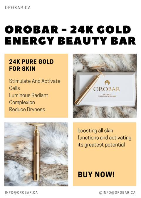 The Orobar 24k Energy Beauty Bar It's microcurrent..
