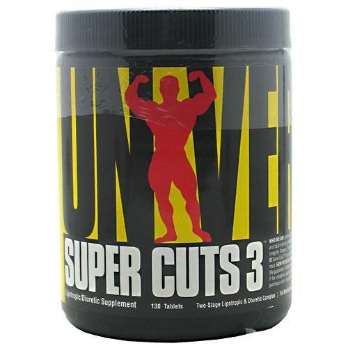Universal Nutrition  Super Cuts 3  130 Tablets