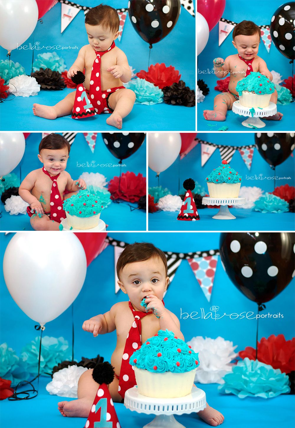 Year Birthday Posing Smash Cake Ideas