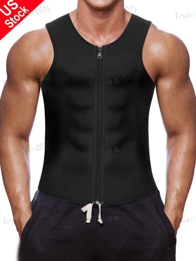 2666ab2e198cdb US Men s Belt Top Sportwear Body Fat Burner Vest Shaper Slimming Waist  Trainer  fashion  clothing  shoes  accessories  mensclothing  underwear  ad  (ebay ...