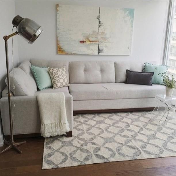 Tile Wool Kilim Rug 9x12 Platinum