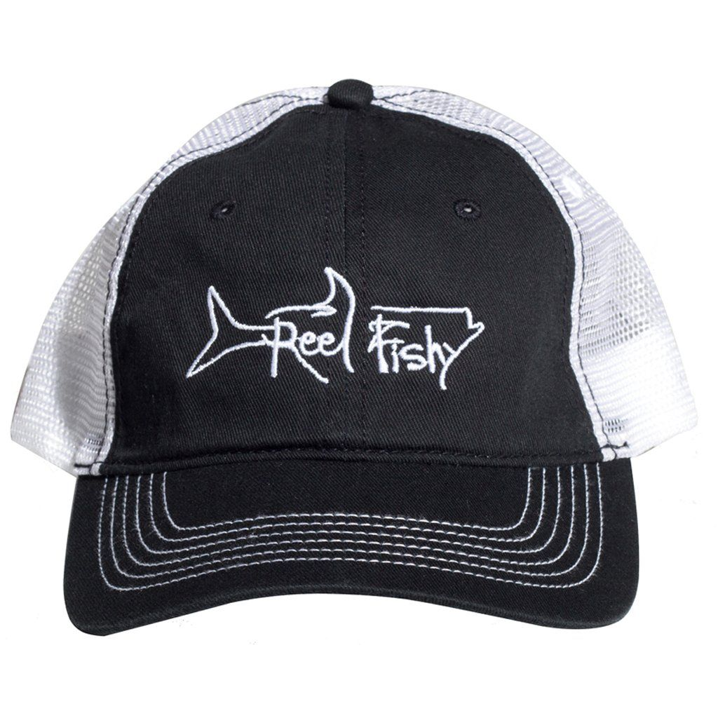 073db89f73165 Reel Fishy Tarpon Unstructured hats available with either adjustable metal  buckle or Velcro closure. - ProCrown with buckram-fused front panels and ...
