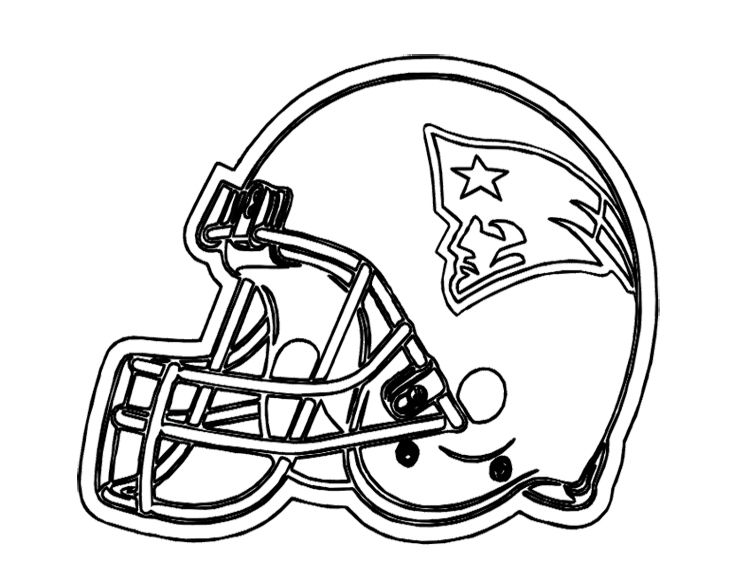 Football Helmet Coloring Pages : Football Helmet Patriots New ...