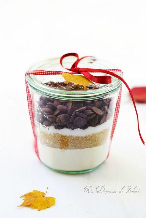 kit ou bocal cookies au chocolat offrir comme cadeau gourmand bricolage pinterest. Black Bedroom Furniture Sets. Home Design Ideas