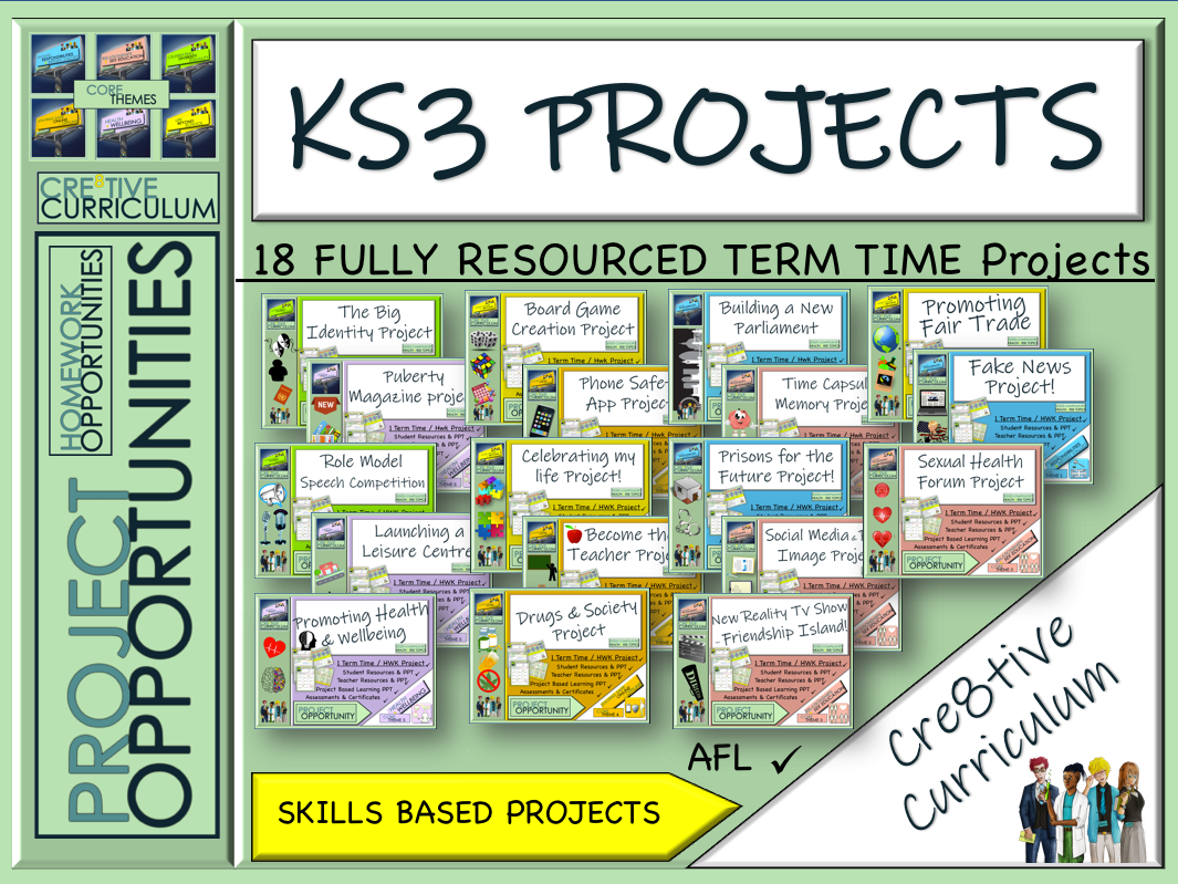 Ks3 Project Based Learning Complete Bundle