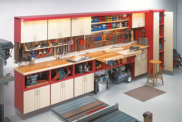 One Wall Workshop Woodworking Plan A Little Too Modern But