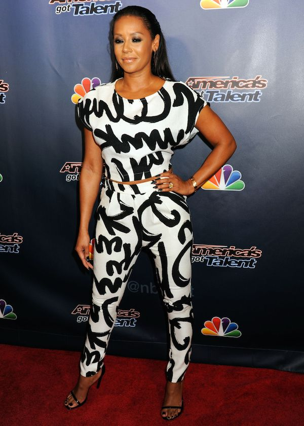 Mel B Melanie Brown At The Americas Got Talent Post Show Red Carpet Held At Radio City Music Hall In New York City