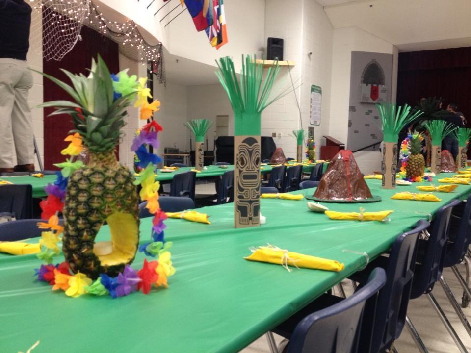 decorations for blue gold banquet luau theme luau decorations partyideas - Luau Decorations