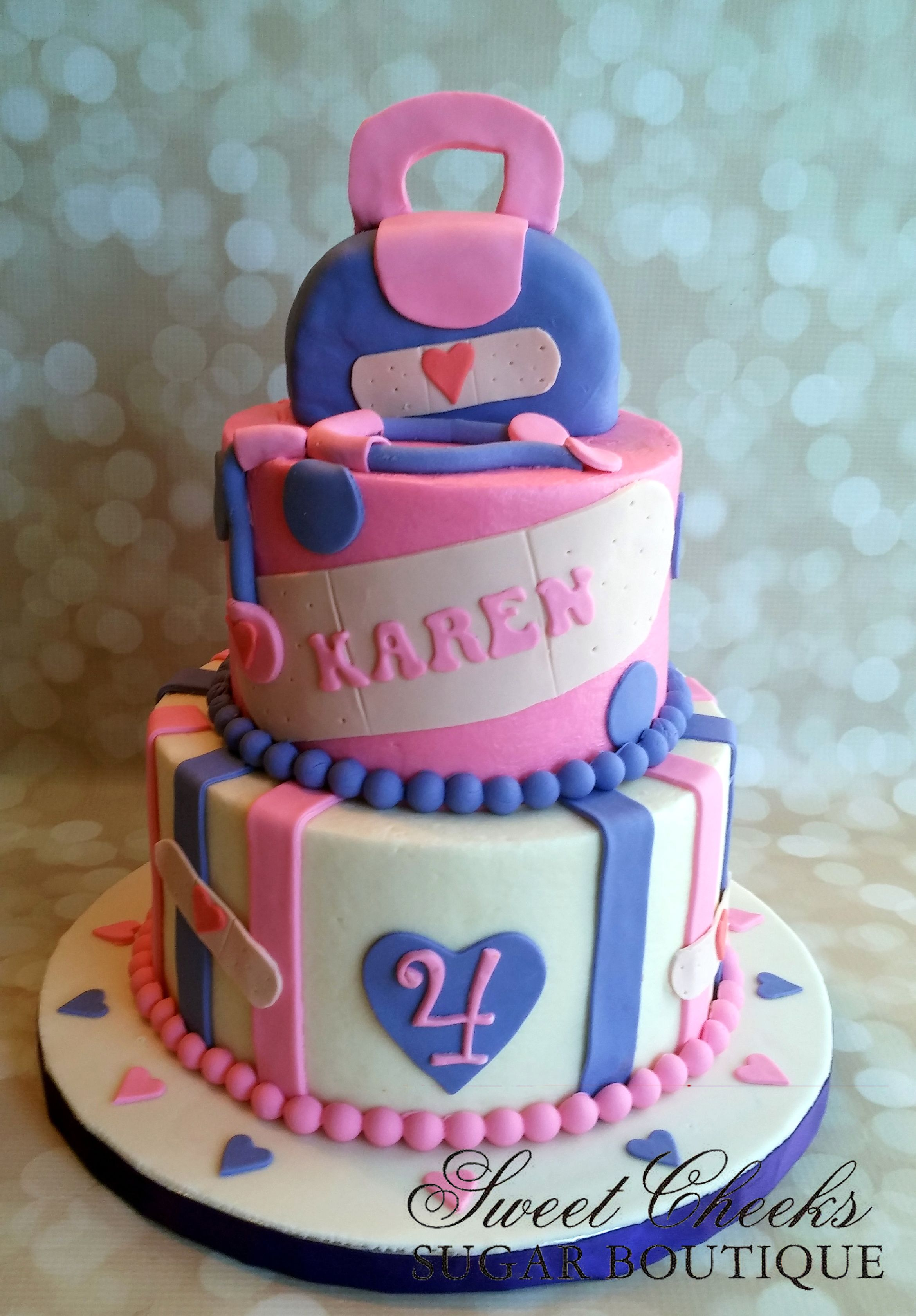 A Doc Mcstuffins Themed Cake For Karen Happy 4th Birthday Sweet