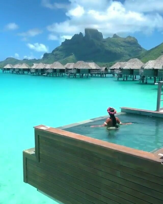 "Bora Bora Island Woman: Living Hotels On Instagram: ""Luxury Pool With A View"