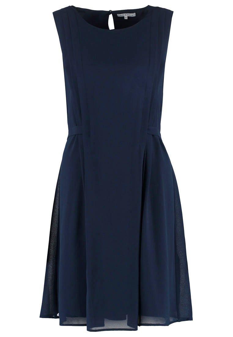 Donkerblauwe korte jurk