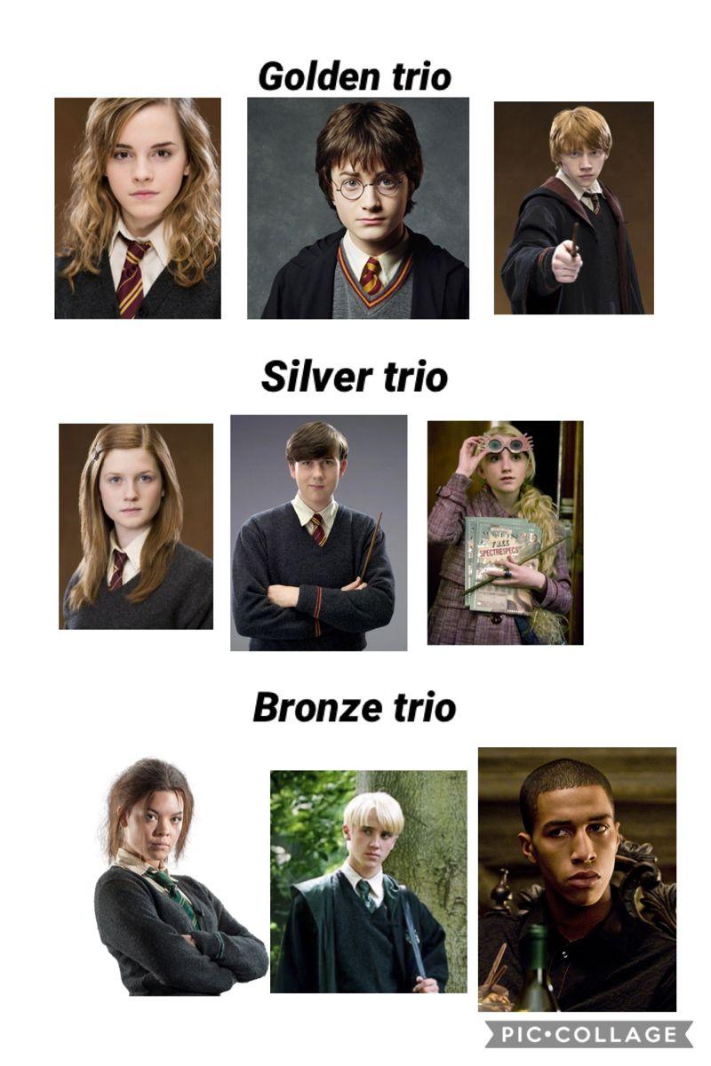 Golden Trio Silver Trio Bronze Trio Harry Potter Ron And Hermione Harry Potter Headcannons