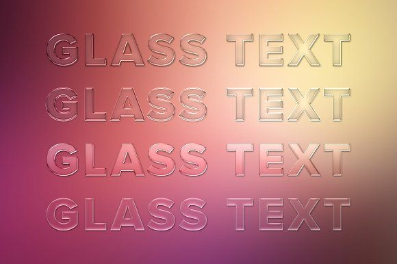 Glass Text Styles by Adrian Pelletier on @creativemarket