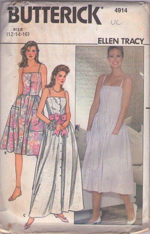 MOMSPatterns Vintage Sewing Patterns - Butterick 4914 Vintage 80\'s ...