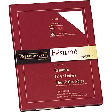 Southworth® Exceptional Resume Paper, 24 lb, 8 1\/2in x 11in - ivory resume paper