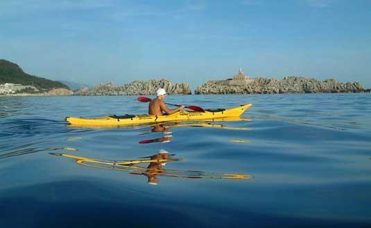 Sea Kayaking on Kolocep Island, Croatia
