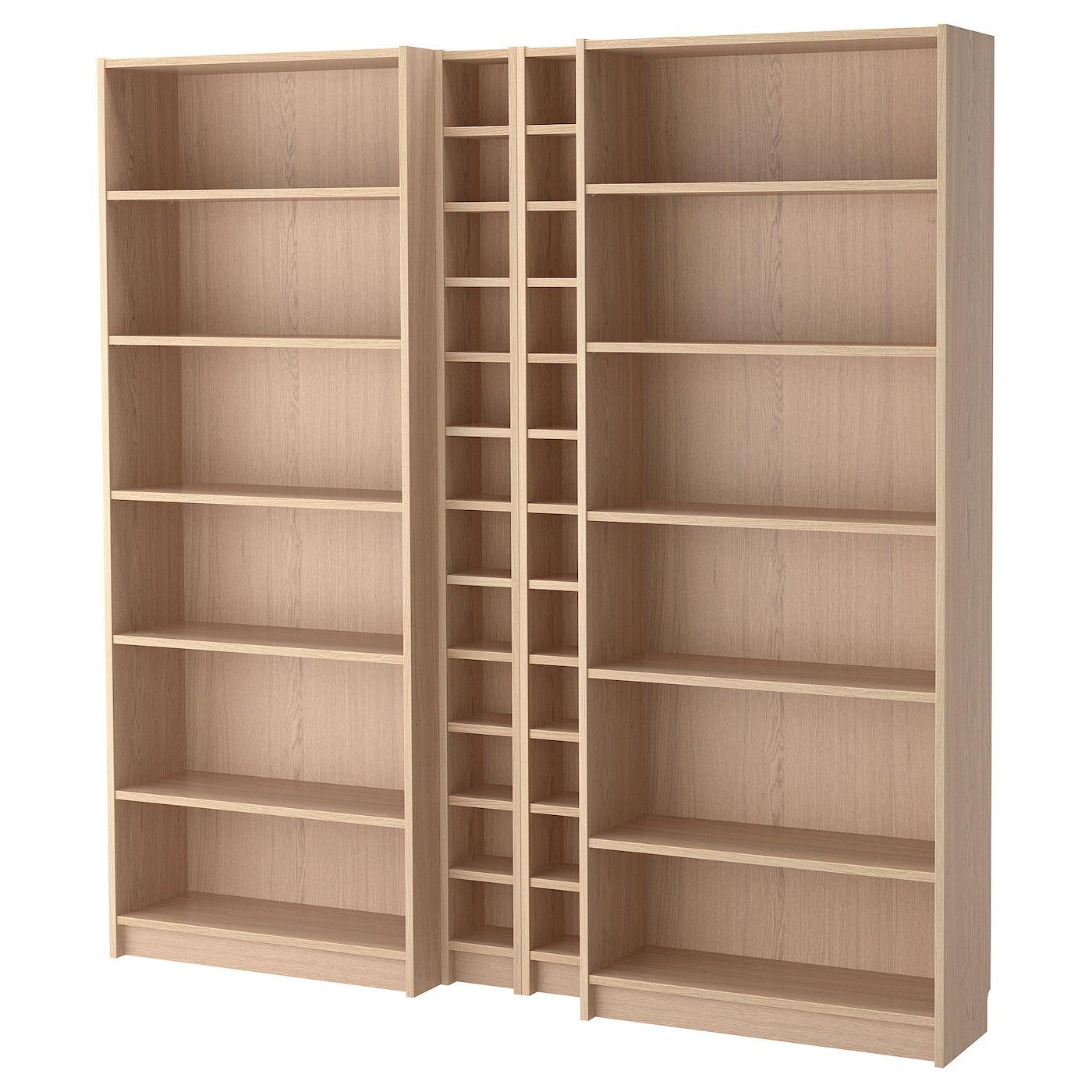 Billy Gnedby White Stained Oak Veneer Bookcase 200x28x202 Cm Ikea In 2020 Bucherschrank Ikea Bucherschrank Regal