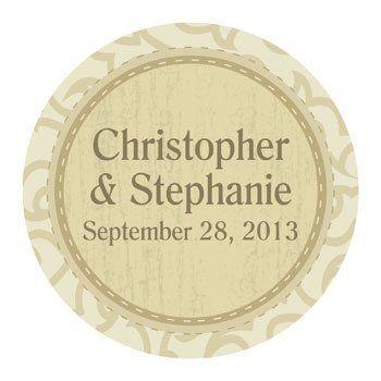 Personalized Rustic Western Wedding Favor Stickers - Invitations & Stationery & Favor Stickers & by Oriental Trading Company, http://www.amazon.com/dp/B006L92EM6/ref=cm_sw_r_pi_dp_QaM7qb0DDTHGB