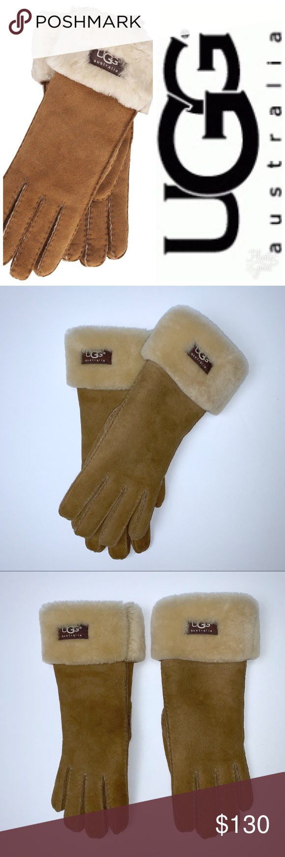 787f8e1e545 UGG Women's Turn Cuff Sheepskin Leather Gloves EUC - Worn all of 3X ...