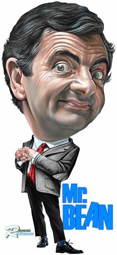 Rowan Atkinson comedian Mr Bean Print funny portrait art tv Celebrity Art