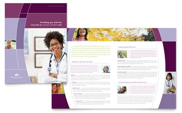 Womenu0027s Health Clinic - Brochure Template Design Layout - brochures templates word