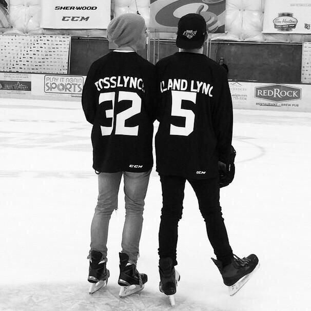 Ross and ryland in there hockey uniforms