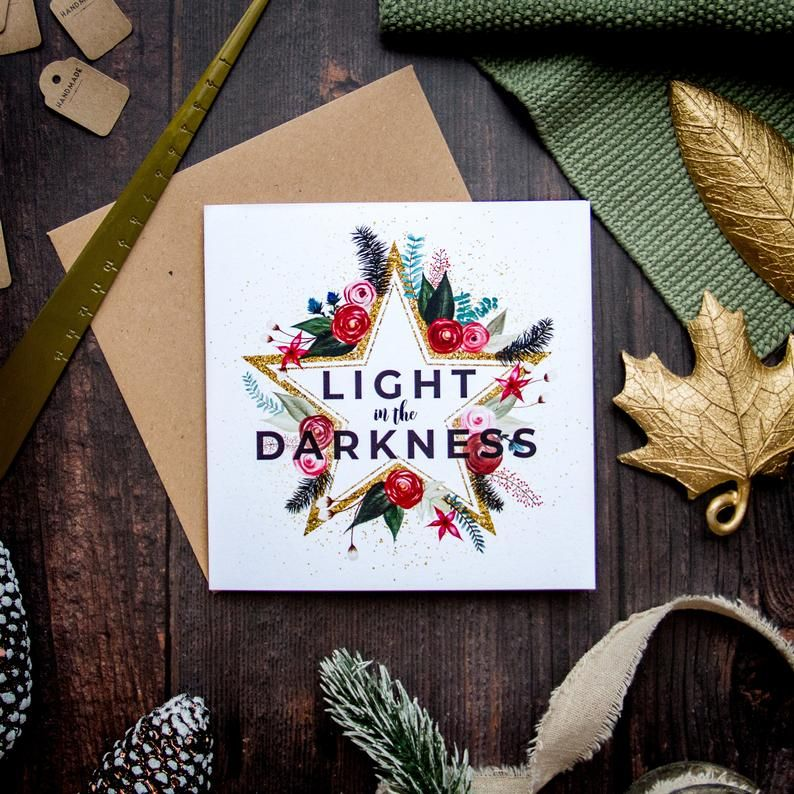 Light In The Darkness Square Christmas Cards Etsy Christmas Cards Etsy Christmas Card Messages Christmas Greeting Cards