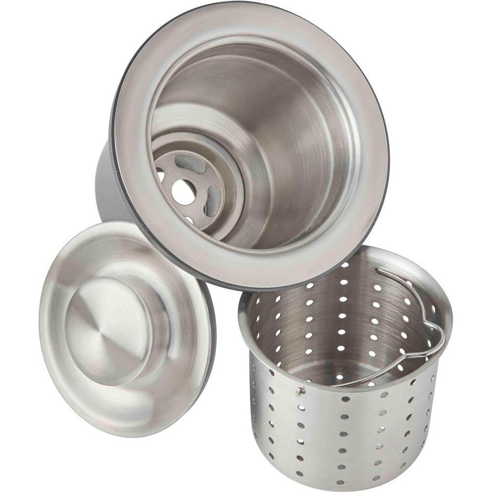 Elkay 3 5 In Kitchen Sink Drain With Deep Strainer Basket And Brass Tailpiece Lkdd Kitchen Sink Strainer Elkay Sink Strainer