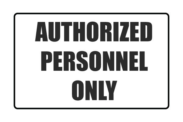 Printable Authorized Personnel Only Signs Free PDF Download | Free ...