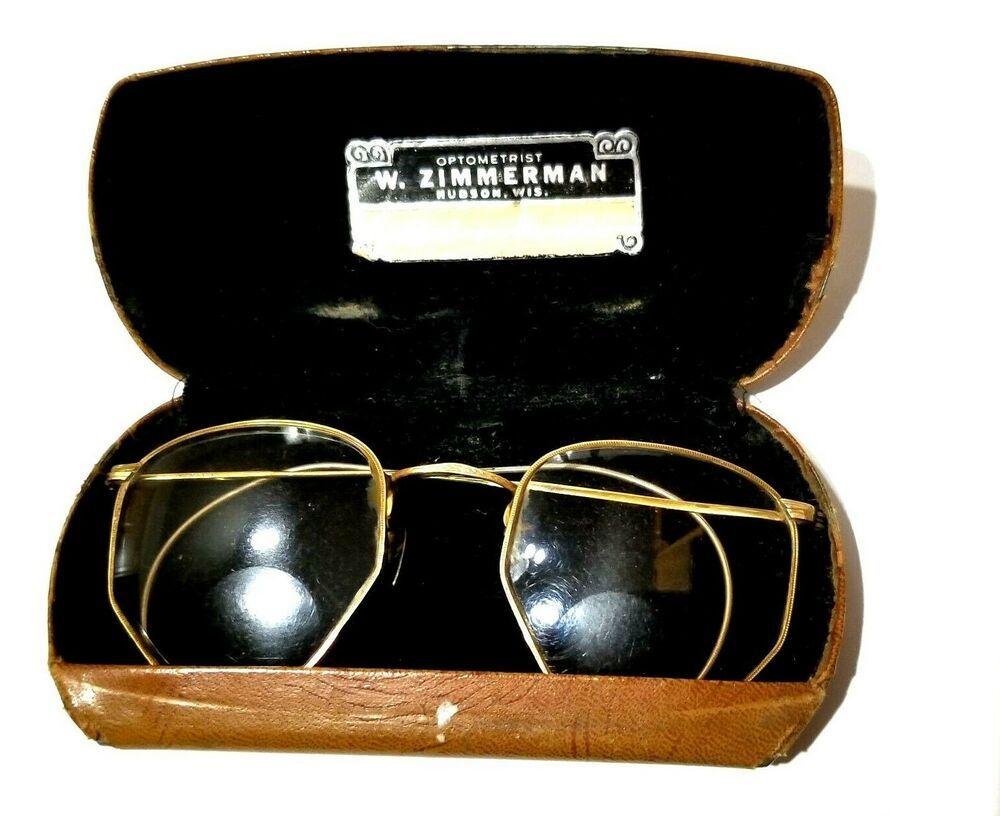 73ecc141f7c5 Vtg Antique 40s Bifocals Eye Glasses Shuron Full Vue 12K Gold Filled Wire  Frame #Shuronfulvue #Hexagon #Everyday