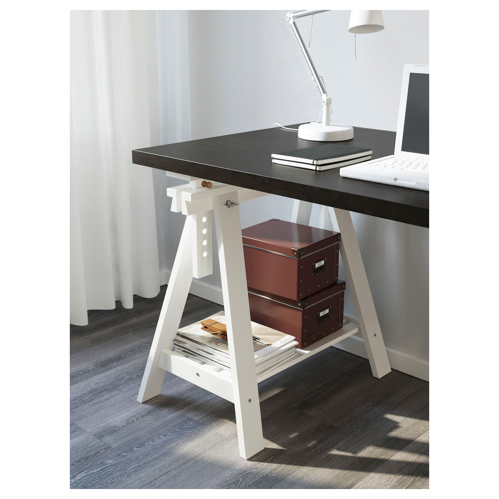 Tableros Mesa Ikea Linnmon Finnvard Table Black Brown White Products
