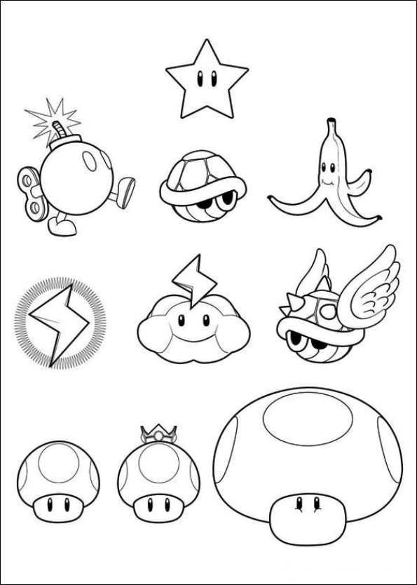 Coloring pages Super Mario Bros. | coloring pages | coloring pages ...