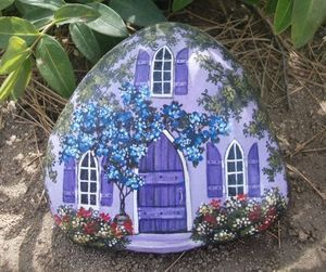 A PLACE for PURPLE Passion - hand painted rock art