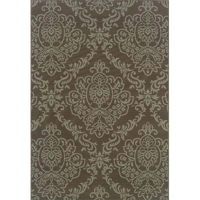 Oriental Weavers Sphinx Bali Grey/Blue Floral Rug | Wayfair