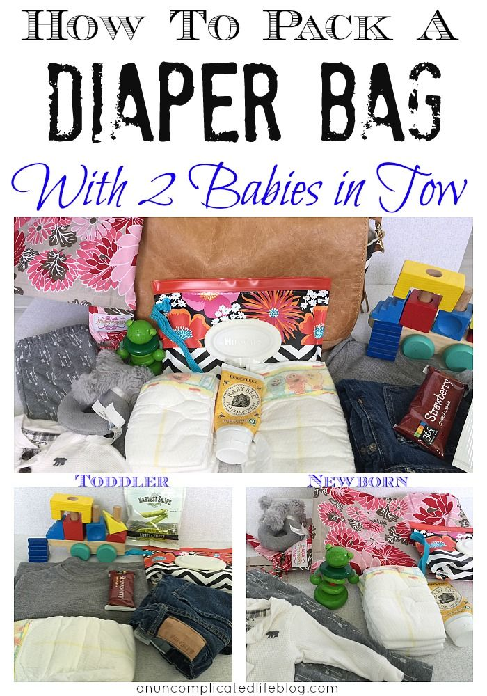 How I Pack A Diaper Bag With Two Babies In Tow