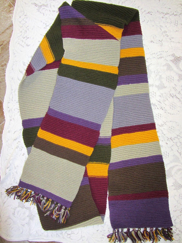 Fantastic Fourth Doctor Scarf Knitting Pattern Motif - Sewing ...