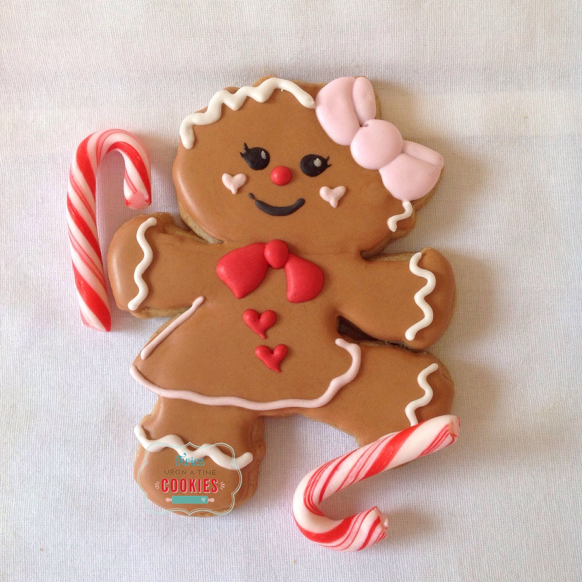 Gingerbread Girl Gingerbread Lebkuken Cute Christmas Cookies