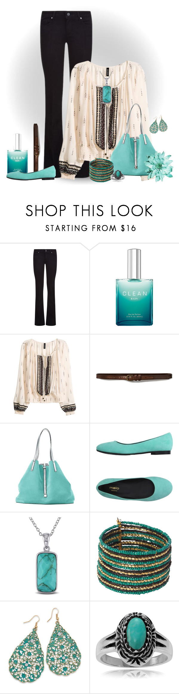 """""""Touch of Turquoise"""" by stileclassico ❤ liked on Polyvore featuring Paige Denim, CLEAN, Abercrombie & Fitch, Tiffany & Co., malo, Miadora, BillyTheTree, Journee Collection, casual and turquoise"""