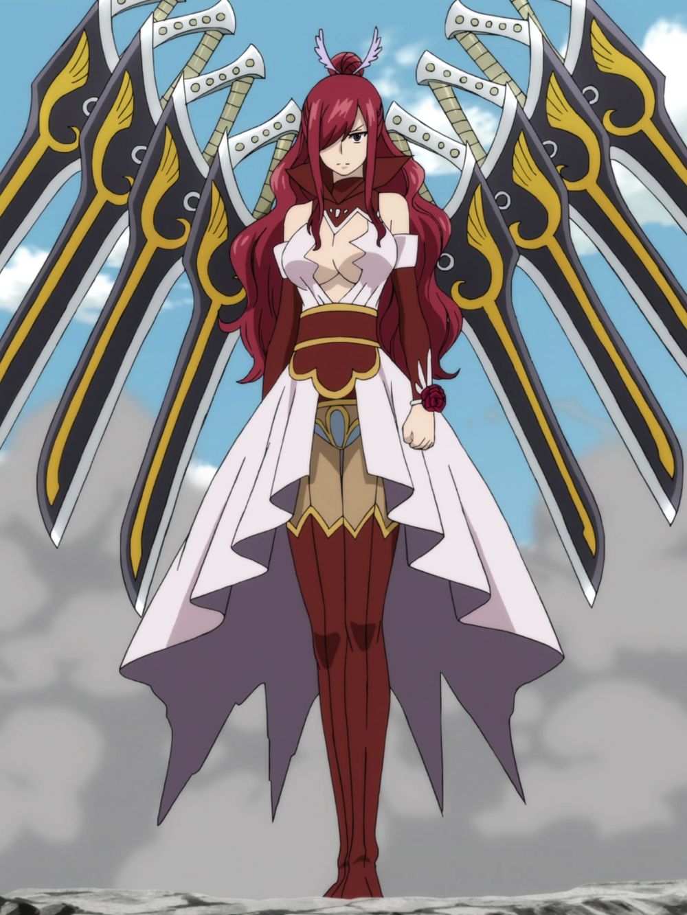 Ataraxia Armor Is An Armor Of Erza Scarlet S This Armor Takes Form Of A Beautiful White Revealin Fairy Tail Erza Scarlet Fairy Tail Anime Fairy Tail Pictures