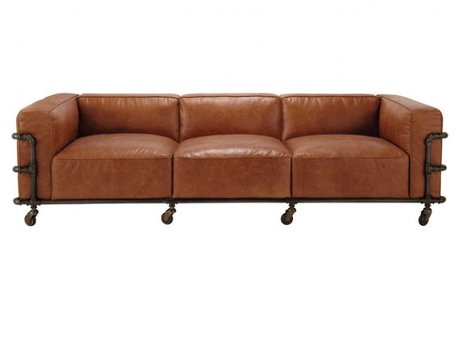 Le Retour Du Canape En Cuir Canape Vintage Canape Cuir Canape Style Industriel