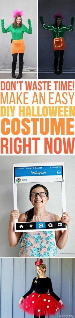These are The Best last minute DIY Halloween Costumes for women, for - last minute halloween costume ideas teens