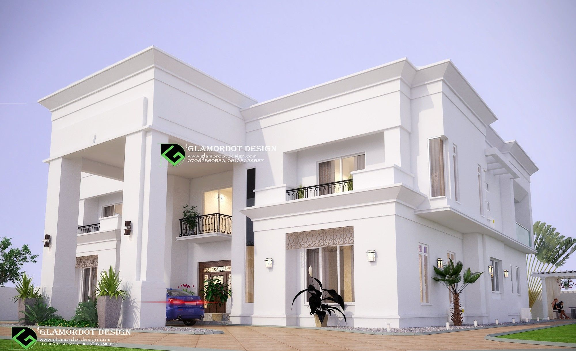Architectural design of a proposed 5 bedroom contemporary