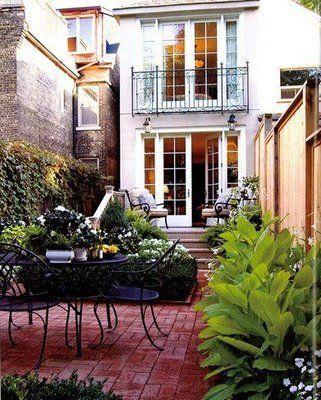 Beautiful New York City Backyards Outdoor Living Brick Patios Outdoor Rooms