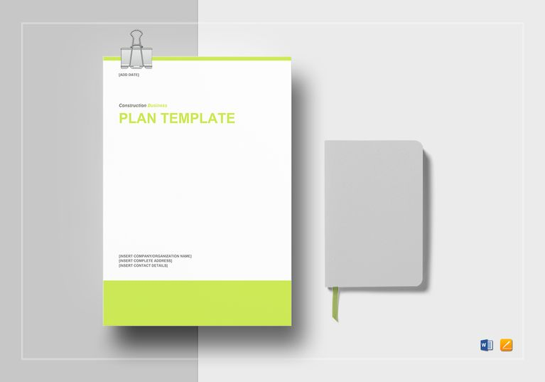 Construction Business Plan Template $29 Formats Included  MS Word - construction business plan template