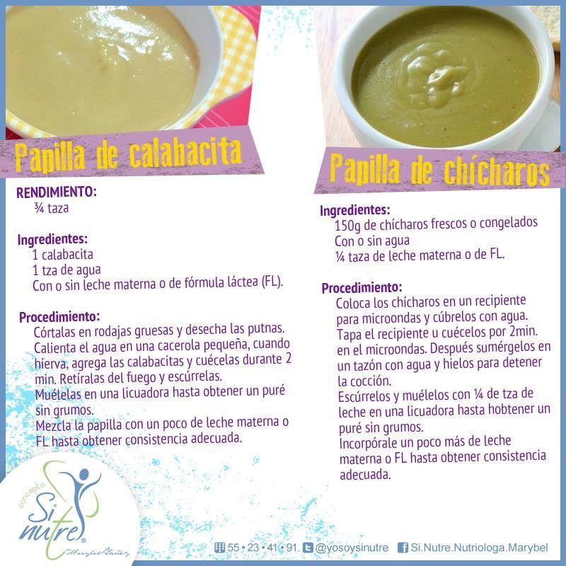 Opciones de papillas para tu beb de 6 meses ricas en vitaminas y minerales comida bebe - Pures bebes 6 meses ...