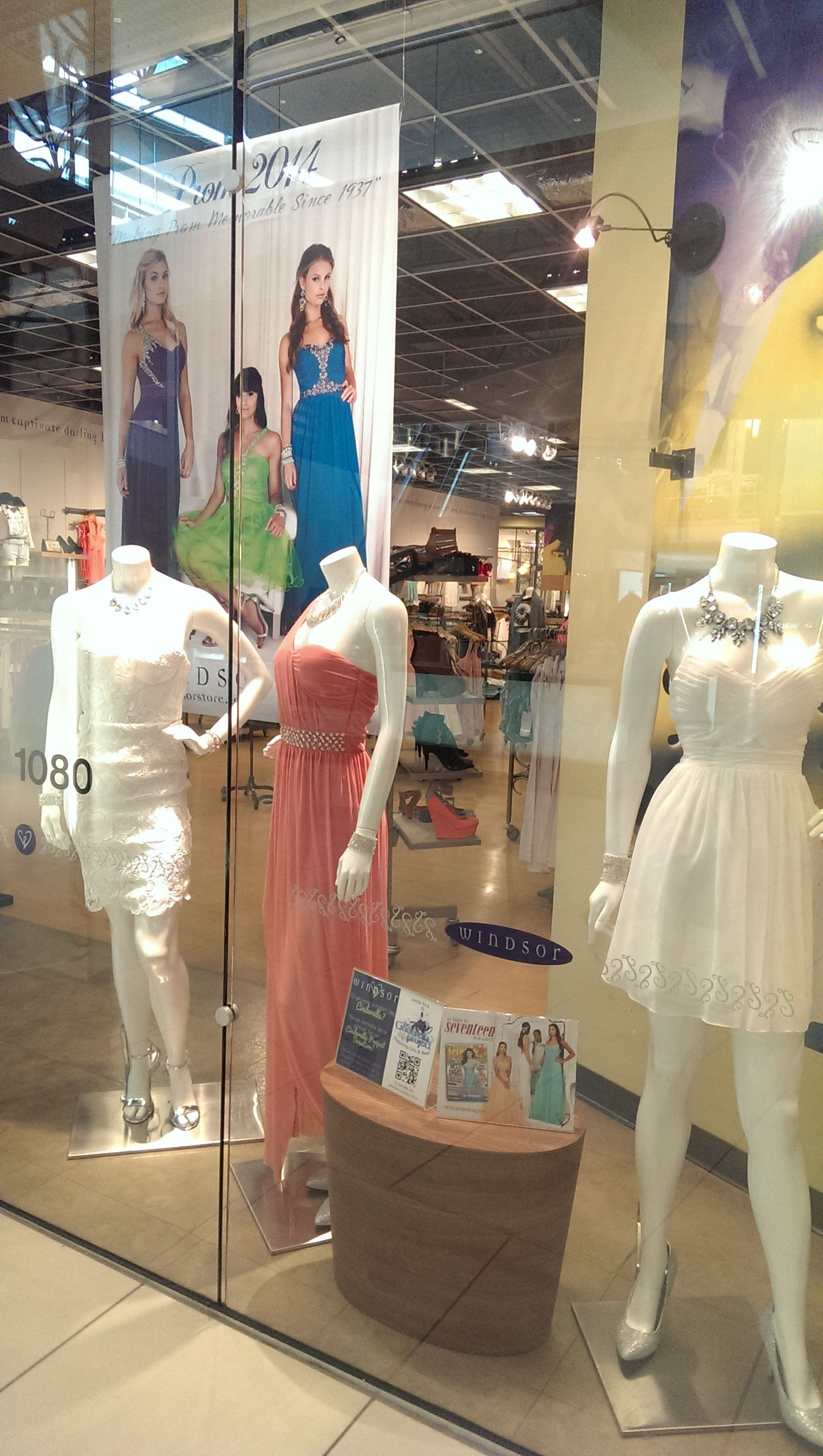 Windsor has prom dresses galore! Stop by Windsor on the lower level ...
