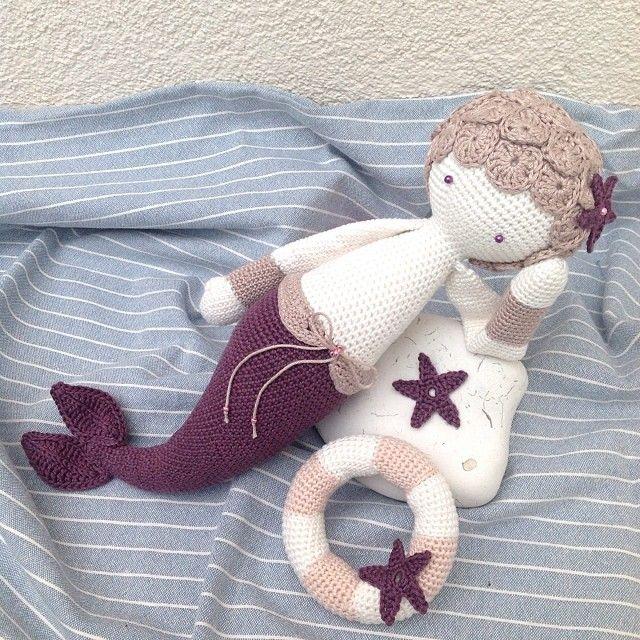 MICI the mermaid made by kreativesloeckchen / crochet pattern by lalylala