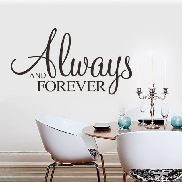 Find More Wall Stickers Information about Always Forever wall sticker Living room bedroom wall art quotes 8355 wedding decoration home decor bedroom stickers 3d stickers,High Quality sticker wall decor,China decorative stickers for cars Suppliers, Cheap sticker pooh from yiwu yifeibi home decor on Aliexpress.com