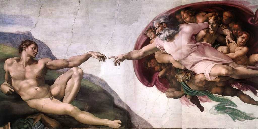 The Creation By Michelangelo God And Adam En Wikipedia Org